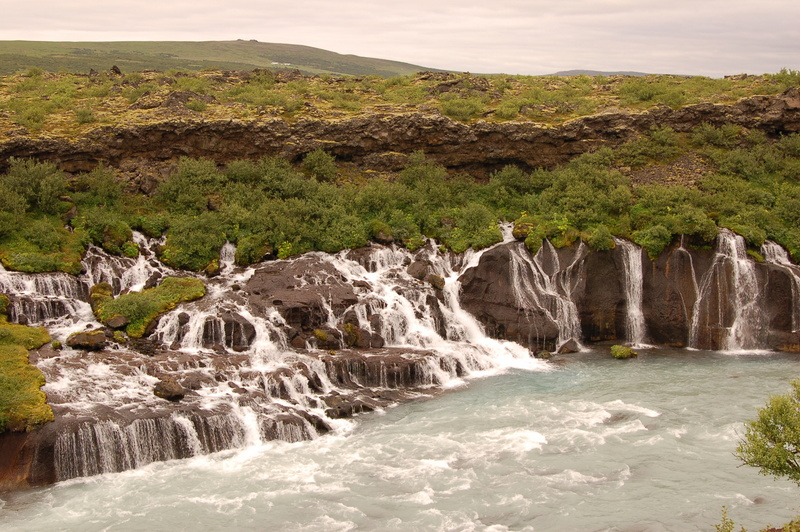 Hraunfossar waterfall, West Iceland.JPG