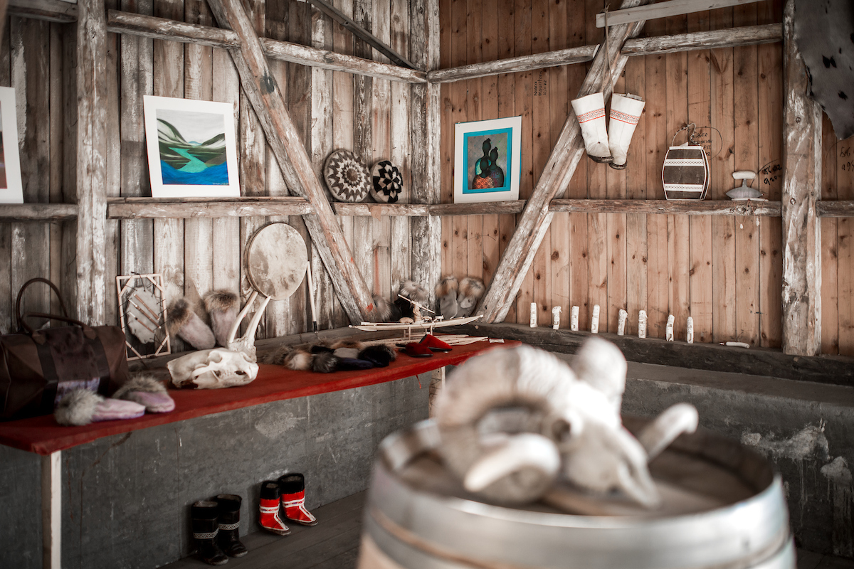 Inside the Hotel Narsaq art an crafts shop at the old harbour in Narsaq in South Greenland.jpg