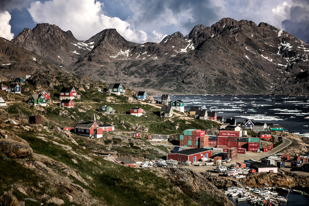 A summer view over parts of Tasiilaq in East Greenland.jpg