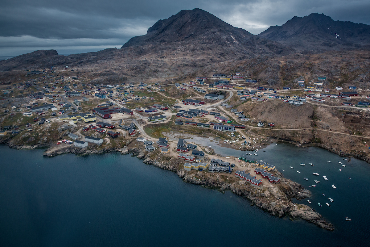 an aerial view of Tasiilaq seen from a flightseeing trip with Air Greenland in East Greenland.jpg