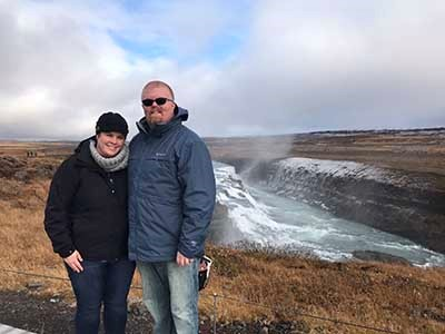 By Gullfoss Waterfalls
